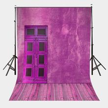 5x7ft Vintage Door Backdrop Brick Red Wall Photography Background Color of the Year 2018