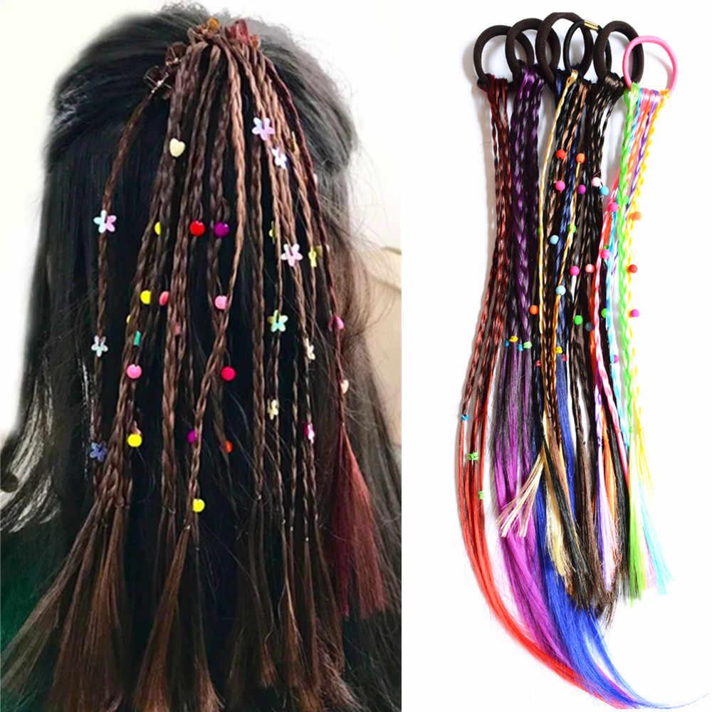 3 шт./лот парик бусины резинки для волос для девочек хвост держатель Для женщин Цветной аксессуары для волос PT116 дропшиппинг