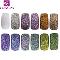 2016 Nuevos 12 Colores Nail Art Glitter Powder Set PET Botellas de Gel UV Acrílico Decoración Ollas Polvo Fino Brillante Artesanía