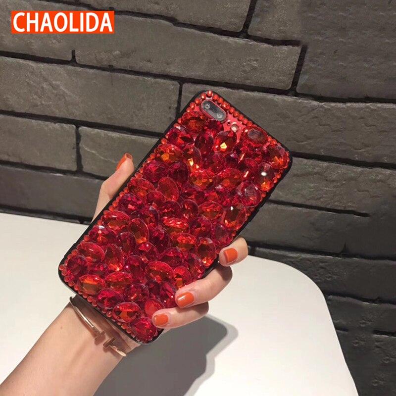 CHAOLIDA Luxury Case Woman Mobile Accessory for Iphone X 6 6s Plus Fancy Rhinestone Telephone Funda