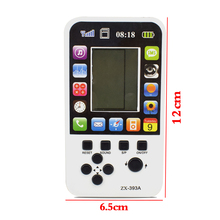Data Frog Portable Childhood Tetris Handheld Game Players Mini Game Console For Children Intelligence Toys Tank Games