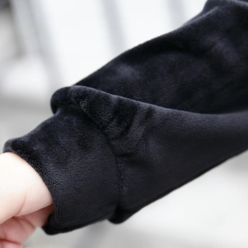 Del Black Di Merletto Picecs In Delle Casuale Rappezzatura Ricamo Vestito Floccaggio Due Spessore Moda Velluto Falso Femminile Inverno Q272 Caldo Signore Autunno w1xCZZ
