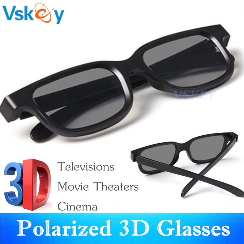 VSKEY 3PCS Polarized 3D Glasses For Passive 3D Televisions RealD Movie Theaters RealD Cinema System For Adults