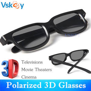 b39ead9b119 VSKEY 3 pcs Polarized 3D Glasses For Passive 3D Televisions RealD Movie  Cinema Theaters