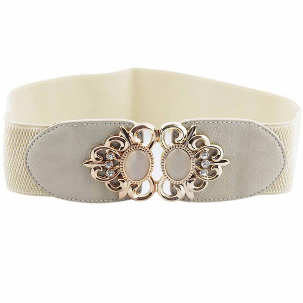 Belts   For Women Fashion Accessories Alloy Flower Vintage Leather   Belt   Vintage Wide Waist   Belts   for Women cinturon mujer riem A9
