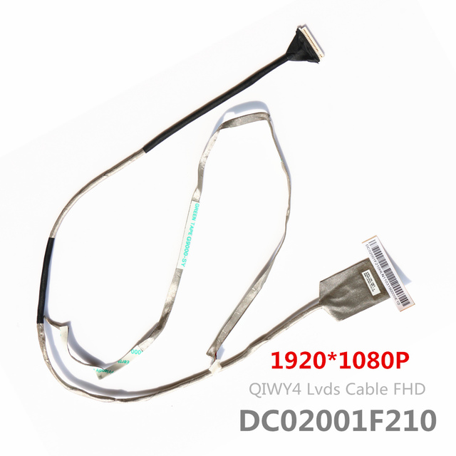 New Lvds Cable For Lenovo Y580 Y580N FHD Lcd Lvds Cable QIWY4 DC02001F210 HD+ 1920*1080