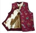 Autumn and winter women's genuine fur Wool vest quinquagenarian winter thicken warm fur lining waistcoat plus size 3XL