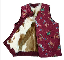 Autumn and winter women s genuine fur Wool vest quinquagenarian winter thicken warm fur lining waistcoat