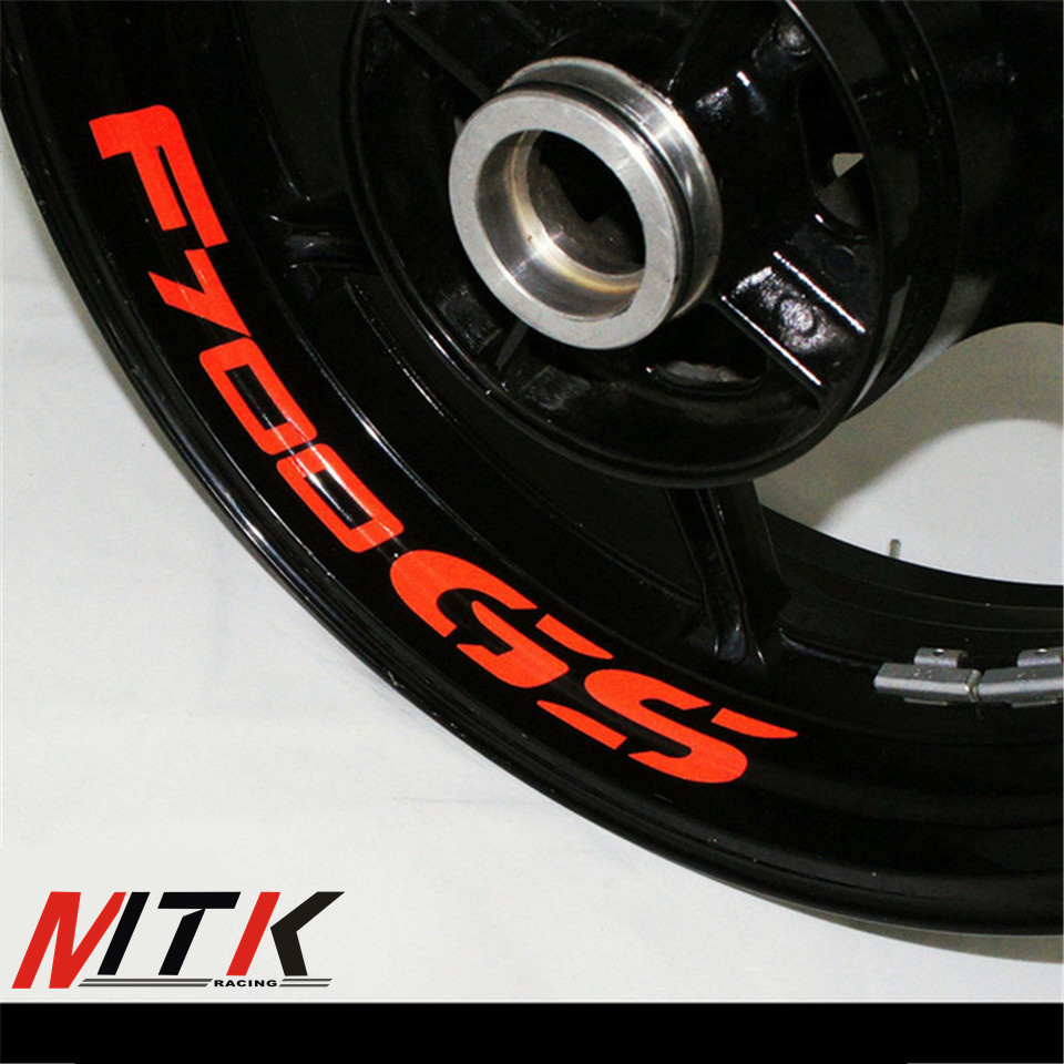 MTKRACING Seven colors 8X CUSTOM INNER RIM DECALS WHEEL Reflective STICKERS STRIPES FIT BMW F700GS