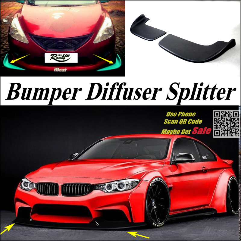car splitter diffuser bumper canard lip for bmw 4 series. Black Bedroom Furniture Sets. Home Design Ideas
