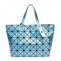 Novas Mulheres Verão Moda BAOBAO Saco Pacote Lantejoulas Geometria Espelho Saser Dobráveis Simples sacos mulheres marcas famosas 5*8