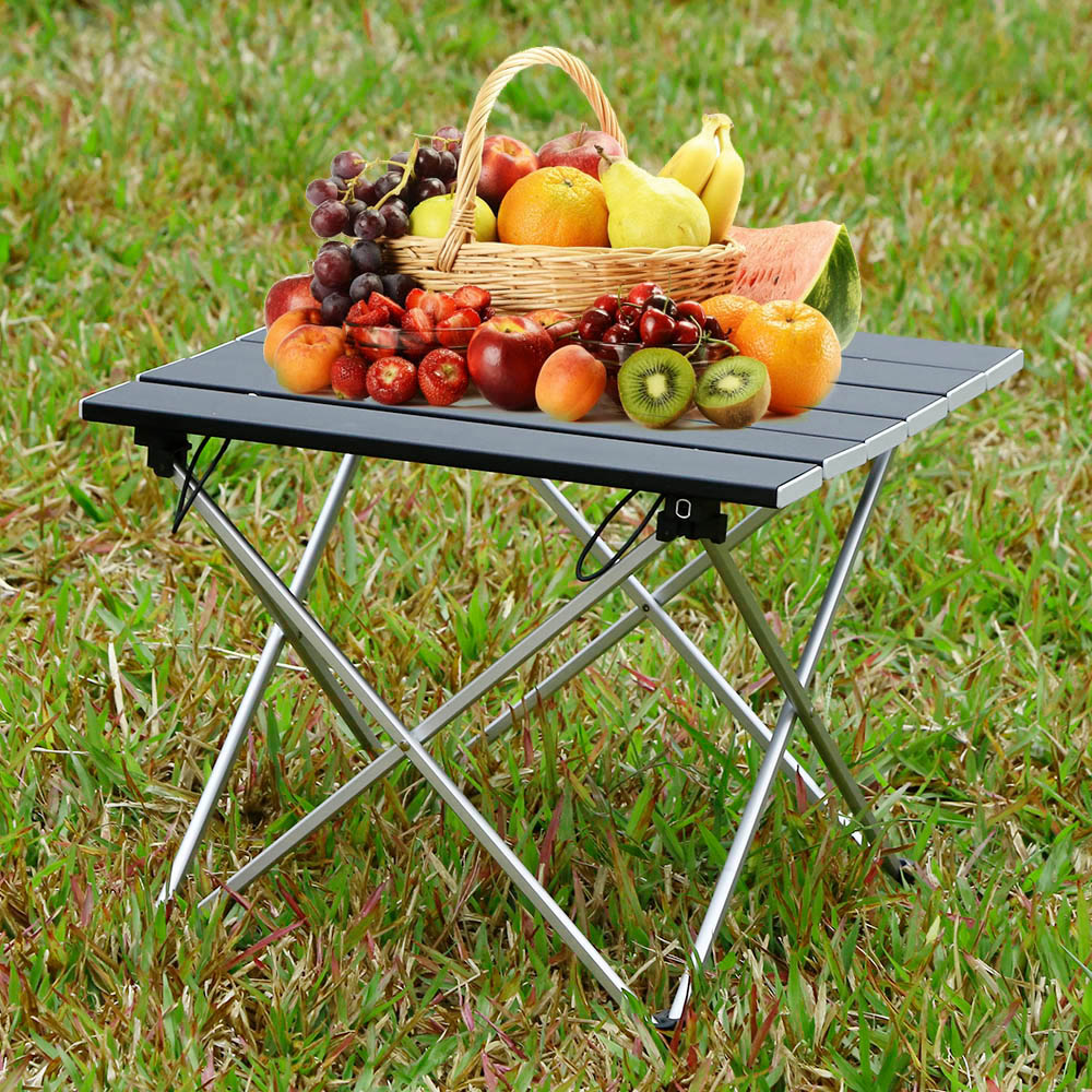 Portable Outdoor BBQ Camping Picnic Aluminum Alloy Folding Table Portable Lightweight Rain-Proof Mini Rectangle Table outdoor folding tables and chairs combination set portable lightweight for picnic bbq camping aluminum alloy easy fold up