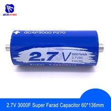 Super Farad Capacitor 2.7V 3000F 136*60 มม.เท้า 2.7V3000F Super Capacitor สำหรับรถยนต์ Auto Power Supply
