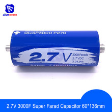 Super Farad kondensator 2.7V 3000F 136*60mm długa stopa 2.7V3000F Super kondensator do samochodu Auto zasilacz