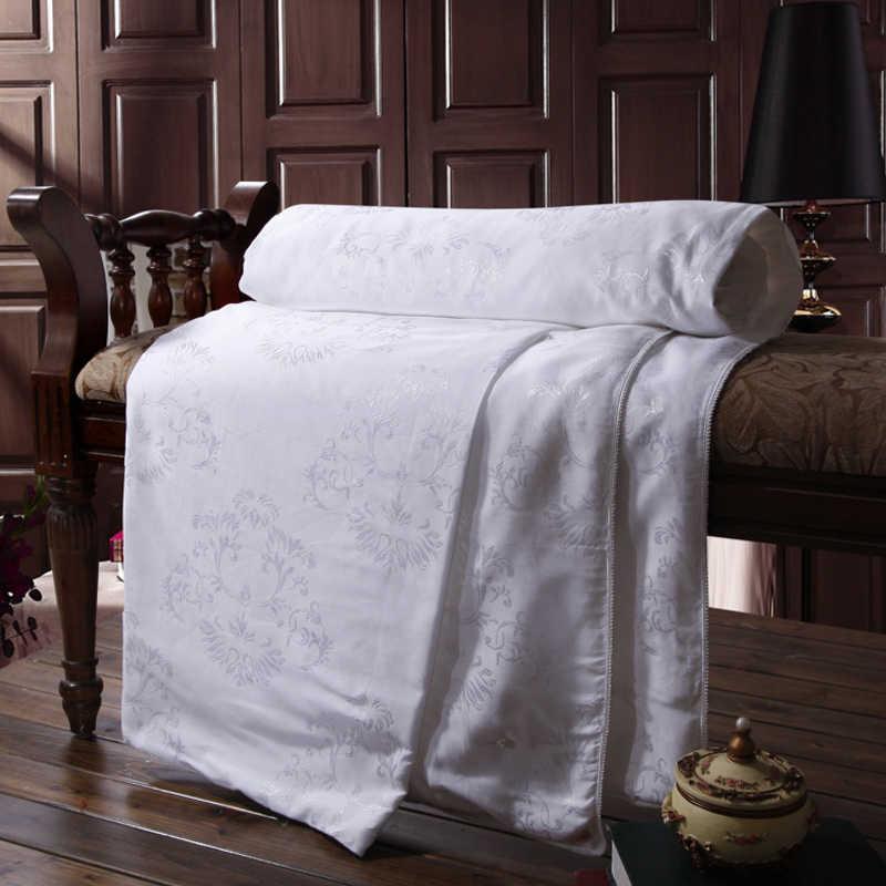 Шелковое Одеяло из шелка тутового шелкопряда, 100% шелковое одеяло, одноместная двуспальная кровать, Двухспальное, королевское, летнее одеяло, белое, розовое, желтое, мягкое одеяло s