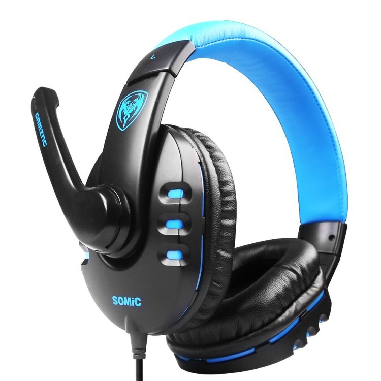 Computer Voice Gaming Headset Somic G923 For PC Gamer Wired Stereo Headphone With Microphone+3.5mm Audio Cable auricolari (2)