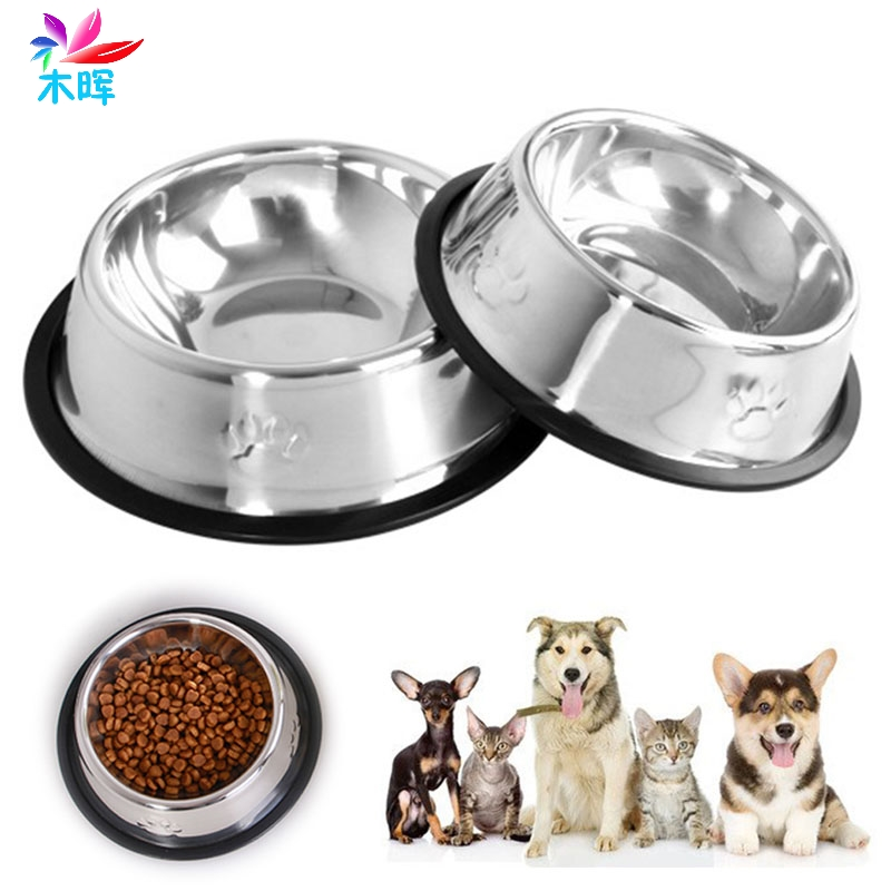 Pet Dog Cat Puppy Stainless Steel Travel Feeder Feeding Food Bowl Water Dish Hot  Mar24_8