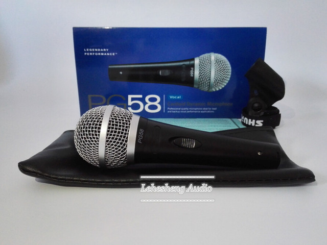 Top quality PG58 Free shipping vocal Karaoke microfone dynamic wired handheld microphone PG58