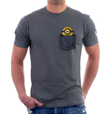 Fuuny T Shirt Printing Parody Geek Grey Minions Cartoon Anime Tops