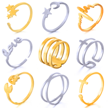 hot deal buy hot unique ring sets punk knuckle rings for women new finger ring open adjustable rings best selling plating golden jewelry gift