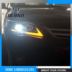 Vland - Headlights for Toyota Corolla 2011 2013 LED Headlight Parking Fog Lamp DRL Bi Xenon Lens