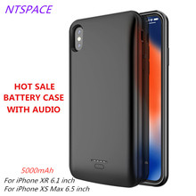 5000mAh Fashion Battery Charger Case For iPhone XR/Xs Max Power Portable Backup Bank With Audio