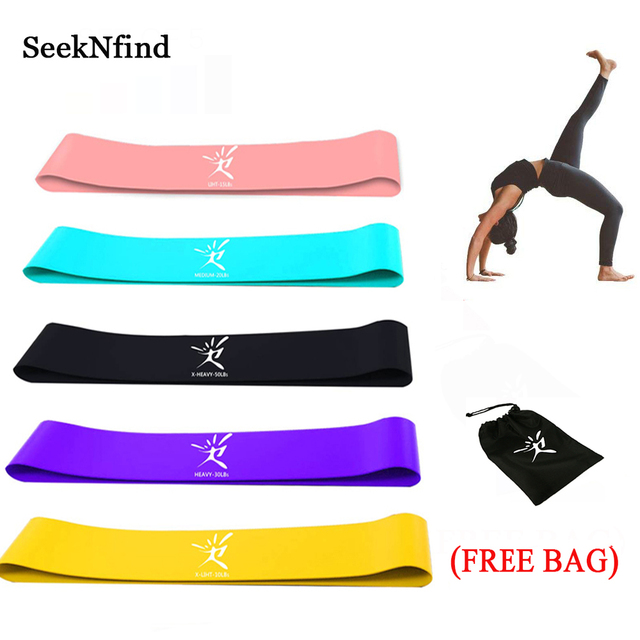 5PCs/Set Resistance Bands Latex Elastic Band Strength Training Rubber Loops Bands Gum for Fitness Workout Expander Equipment