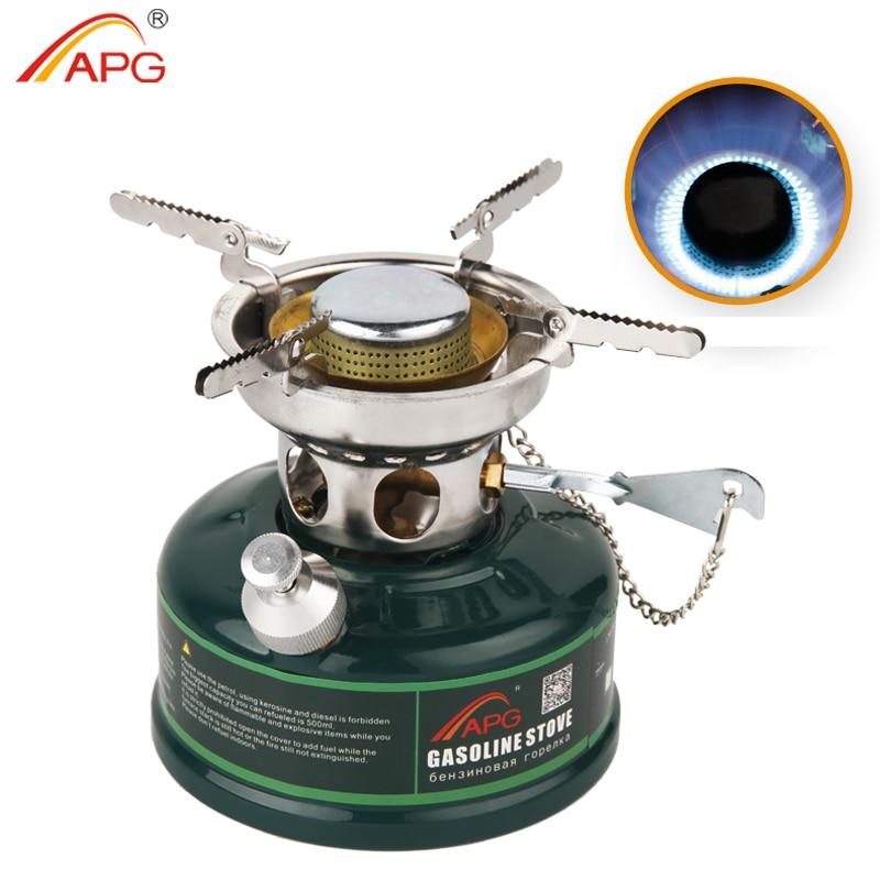 Estufa de gasolina APG para Camping sin ruido, quemadores de estufa de aceite, horno de Picnic al aire libre