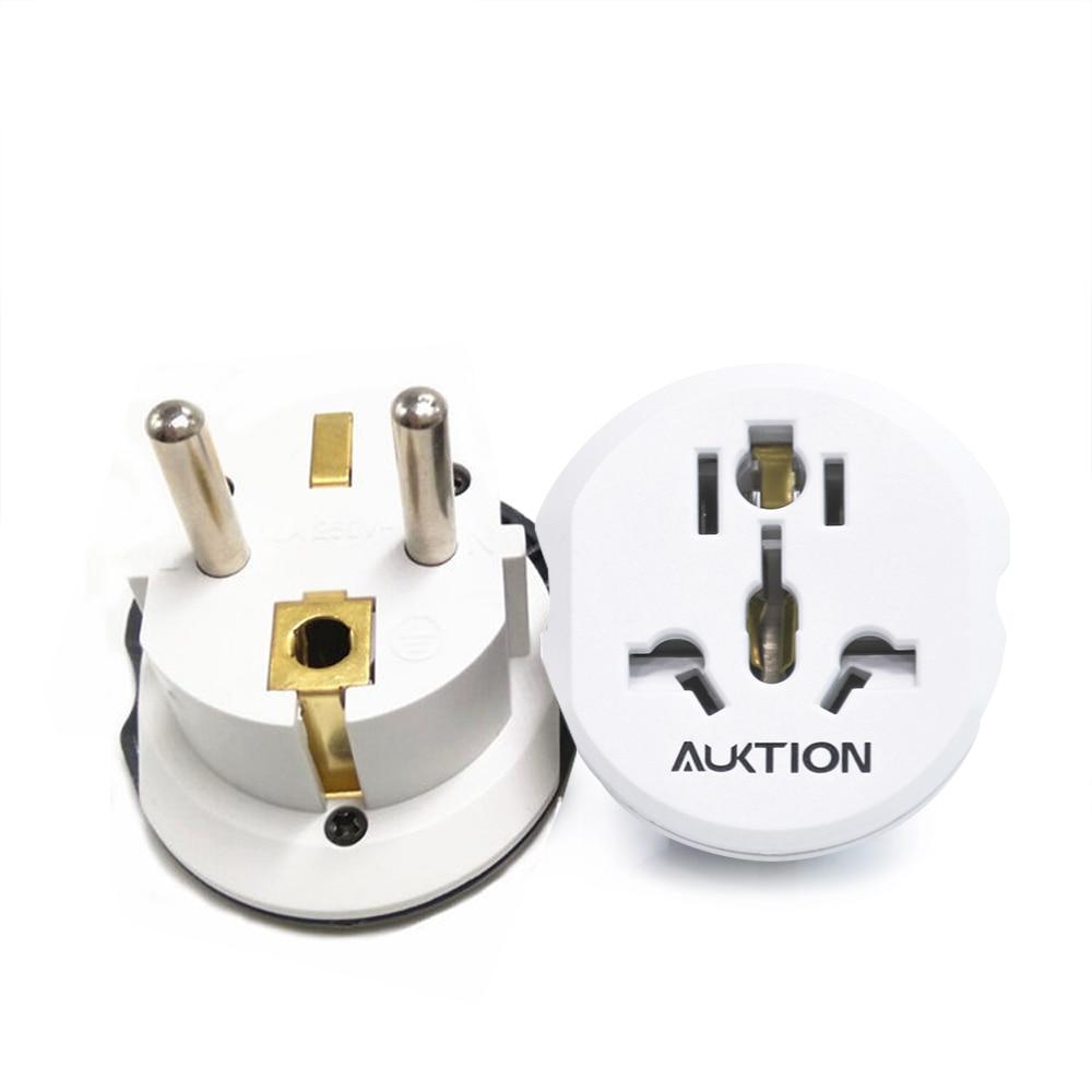 5PCS/Lot Perfect Match Europe 16A Travel Adapter EU Converter UK US AU To EU AC Socket Plug Universal Travel Charger Adapter