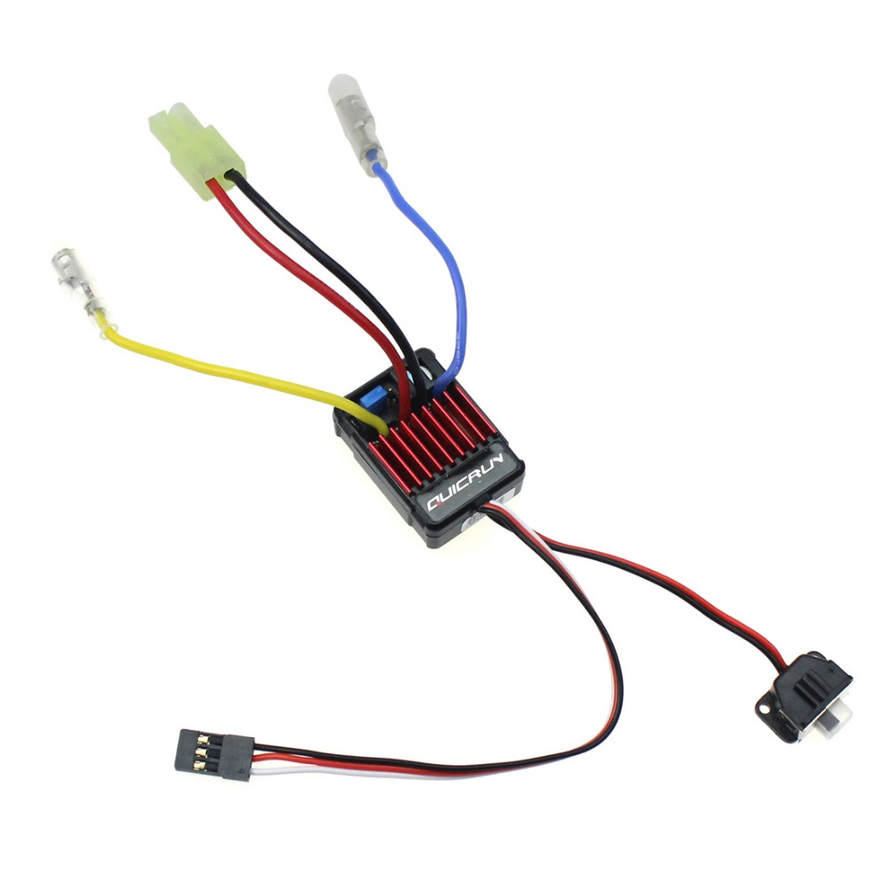 Original Hobbywing QuicRun 1060 60A 1625 25A Brushed ESC Electronic Speed Controller ESC For 1 10