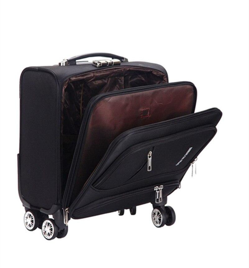 Fashion Commercial Travel Suitcase Universal wheel Aluminium alloy rod Trolley Oxford cloth boarding box password box