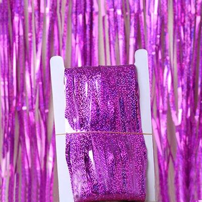 2 м 3 м 4 М Металлическая бахрома из фольги мерцающий фон свадебная вечеринка украшение стены фото стенд фон мишура блестящие занавески золото - Цвет: laser rose