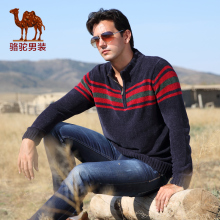 Camel camel for men's clothing 2014 sweater male long-sleeve sweaterD4H075225