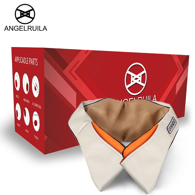 Angelruila U Shape electric massagers for the body Infrared Heated 3D Kneading Home Office Cars neck