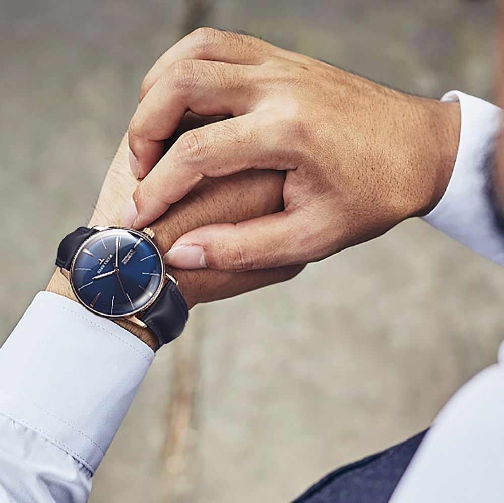 リーフ虎/RT 高級ブランド腕時計メンズ革自動機械式防水時計レロジオ Masculino + ボックス RGA8238