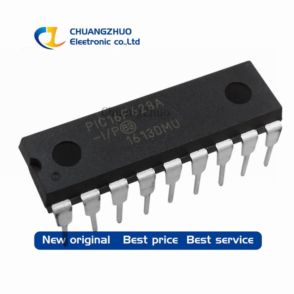 50pcs New Original  PIC16F628A-I/P DIP-18 PIC16F628A PIC16F628 16F628 Flash-Based, 8-Bit CMOS Microcontrollers