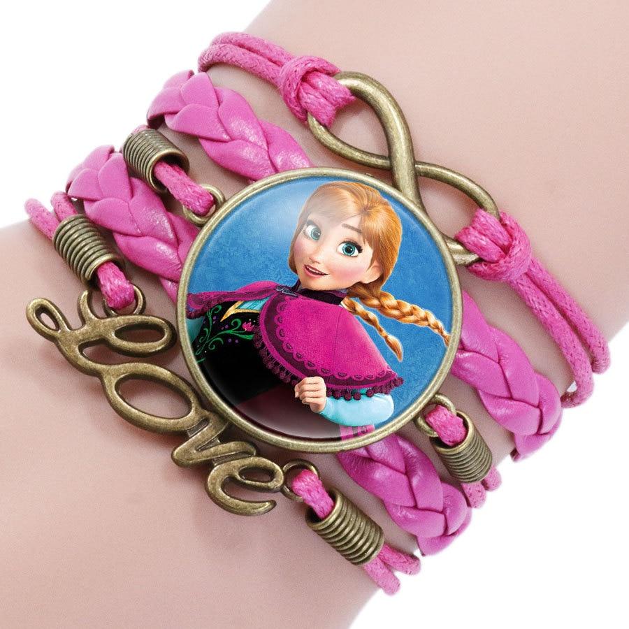 Детский Браслет Принцессы Диснея с героями мультфильма «Холодное сердце», Эльза, прекрасный подарок для девочек, аксессуары для одежды, детский браслет, украшения для макияжа - Цвет: 13