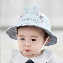 Cute Summer Fashion Baby Boy Girl Caps Animal Print Unisex Hats Mesh Breathable Sun Hat Cotton Comfortable