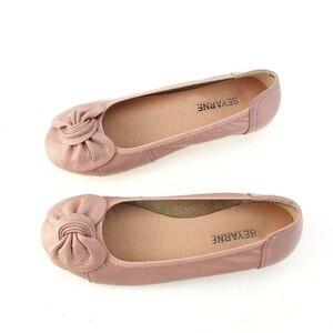Image 3 - BEYARNE 9 สี PLUS ขนาด (34 43) สบายๆผู้หญิงของแท้หนังแบนรองเท้ารองเท้าผู้หญิงพยาบาลทำงานรองเท้าผู้หญิง