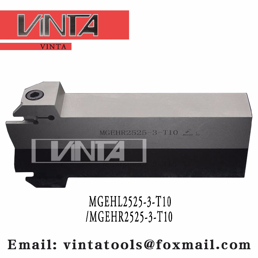 Free Shipping MGEHL2525-3-T10/MGEHR2525-3-T10  CNC Lathe Parting And Grooving Tool Holder Bar Cut Off Tools