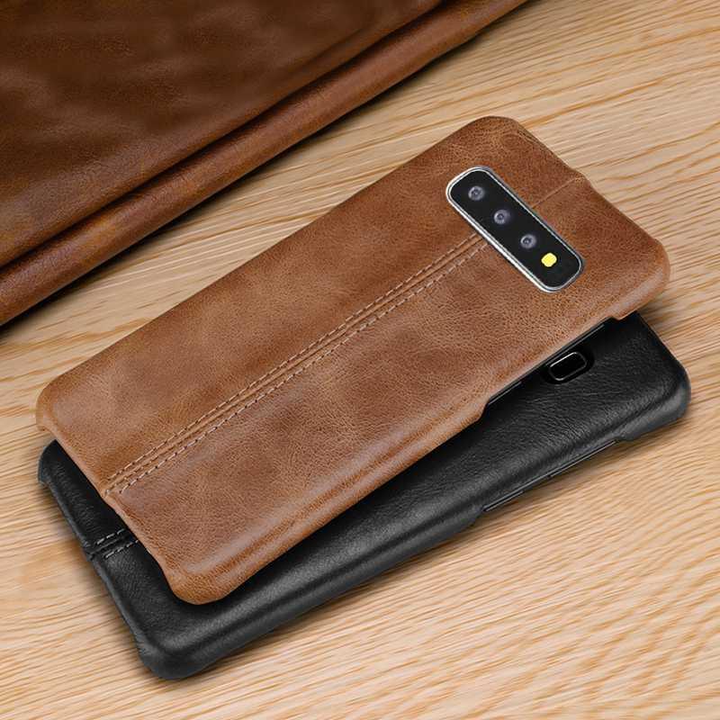 Echtes Leder Fall Für Samsung Galaxy S10 Plus Leder Fall Abdeckung Matte Zurück Coque Für Samsung Galaxy S10 S10e Fall Fundas