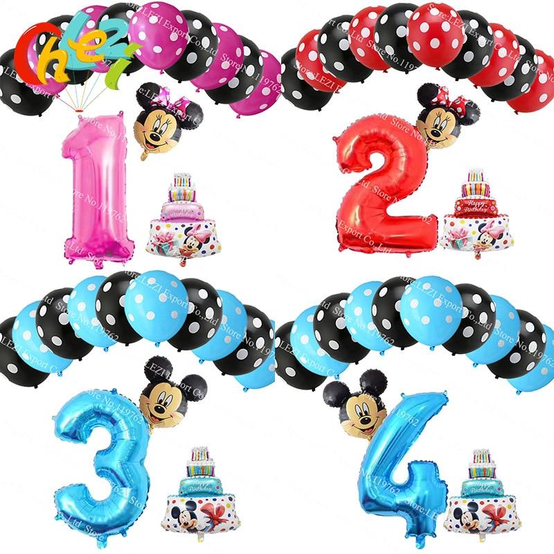 Fine 13Pcs Lot Number 1 2 3 4 5 Foil Balloons Birthday Cake Balloon For Funny Birthday Cards Online Elaedamsfinfo
