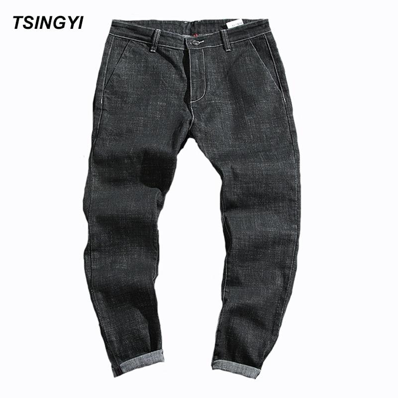 aaa97818ca0 Tsingyi Autumn Minimalist Black Denim Jeans Men Homme Low Waist Harem Pants  Long Length Jogger Mens Trousers Plus Size 28 42-in Jeans from Men s  Clothing on ...