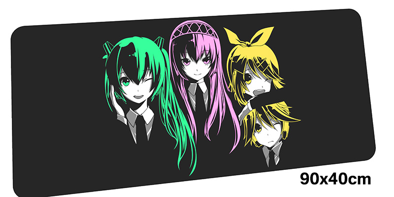 Hatsune Miku mousepad gamer 900x400X3MM gaming mouse pad large Indie Pop notebook pc accessories laptop padmouse ergonomic mat