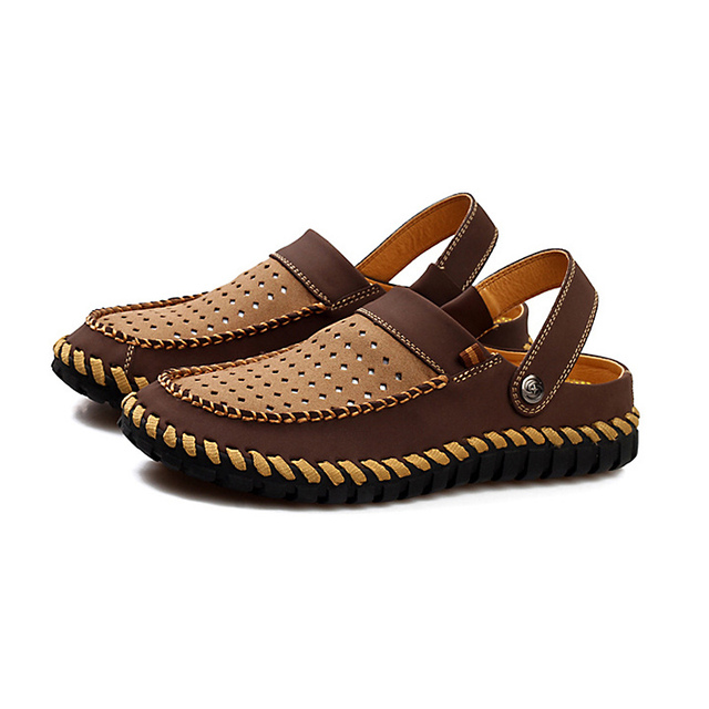 Men Simple Soft Hollow Two Wear Sandals Slippers outlet perfect discount latest collections wuDDpo