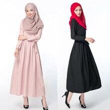 Islamic Jilbab Adult Offer Promotion Muslim Abaya Jilbab Islamic Clothing For Women Robe Musulmane Dubai 2016 Pure Dress #6236