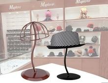 Hot sale new style Hat display stand peak cap storage rack metal bucket hat straw hat sunhat wig hairpiece display holder rack