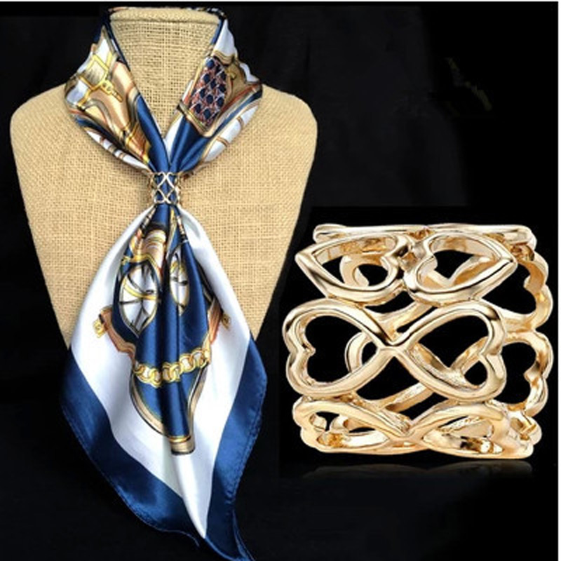2020 модные ювелирные изделия из золота выбитое сердечко шарф клип Брошь Channel Броши винтажные английские булавки Lareg Броши для женщин