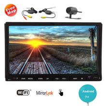 Android 7.1 Touch Screen Car Stereo 2Din Radio Video DVD Player Wifi GPS Navigation Autoradio Head Unit Wireless Back Camera