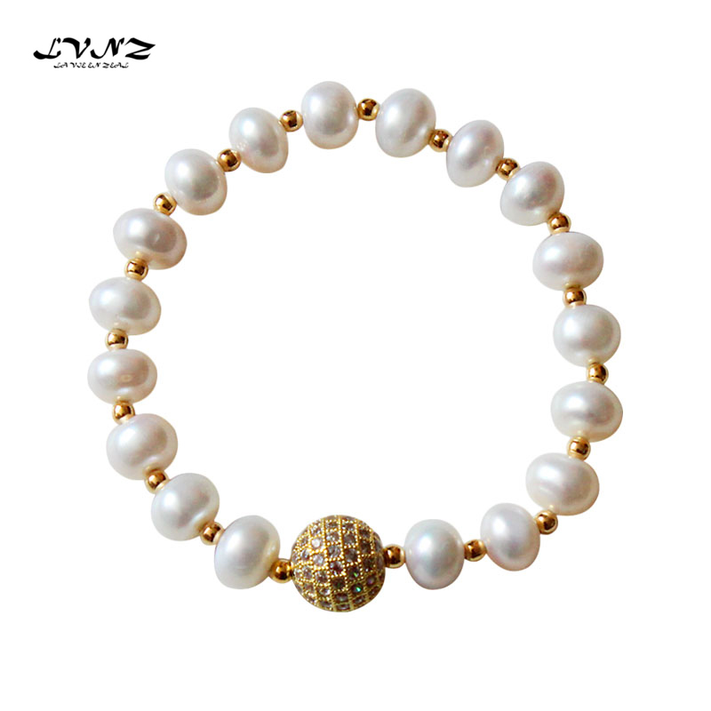 LVNZ 2019 новый модный металлический шар пресноводный браслет с жемчужными подвесками женский браслет из цепочек кулон Ювелирный модный аксес